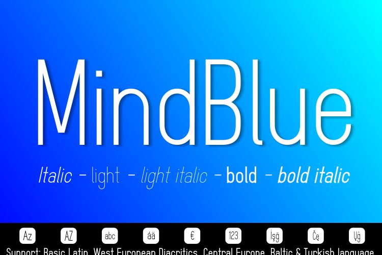 MindBlue Font