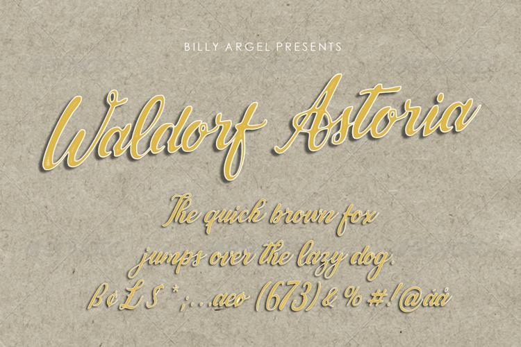 Waldorf Astoria Font