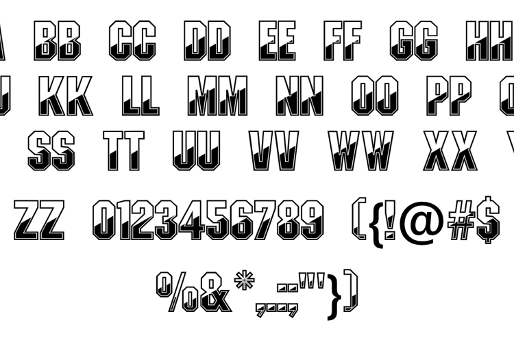 Gunmetal Font