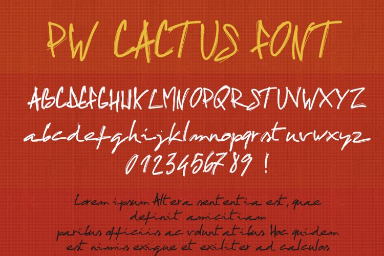 PWCactus Font