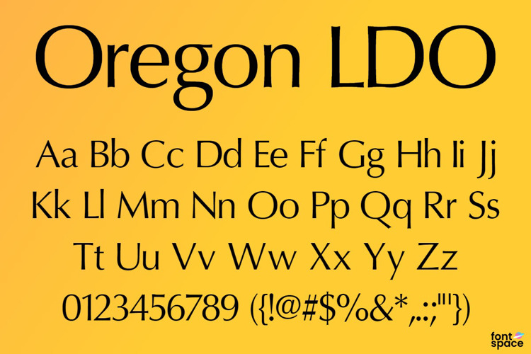 Oregon LDO Font