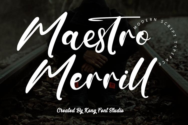 Maestro Merrill Font