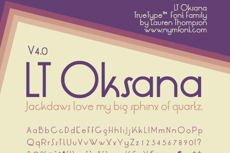 LT Oksana Font