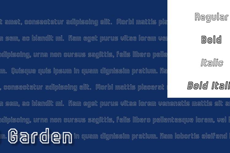 JD Garden Font
