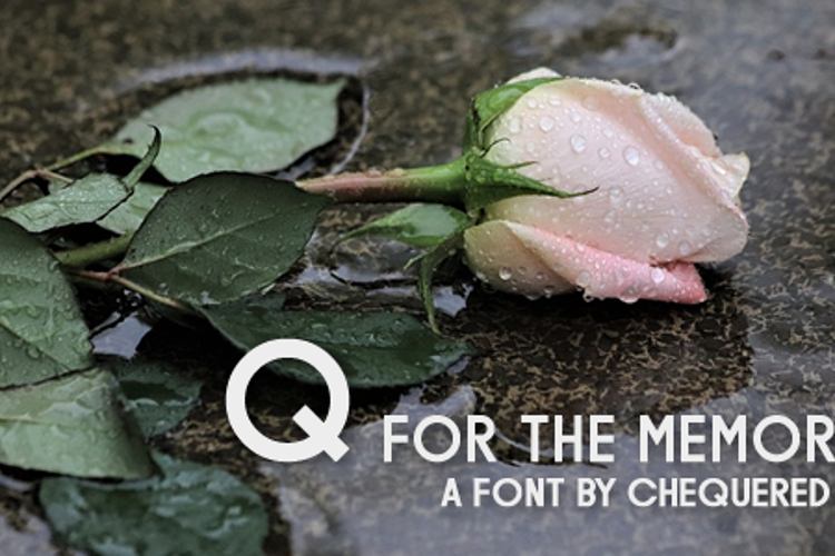 Q for the Memories Font