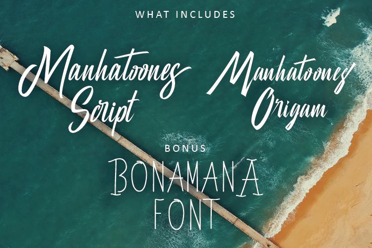 Manhatoones Script Font