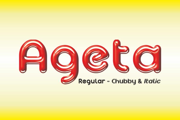 Ageta Chubby Demo Font