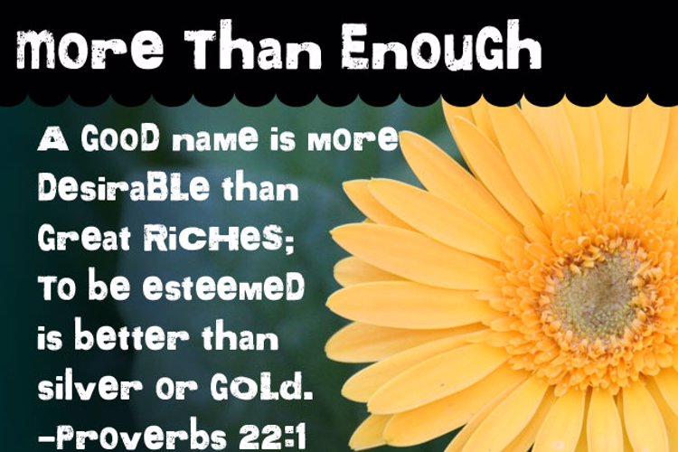 More than Enough Font