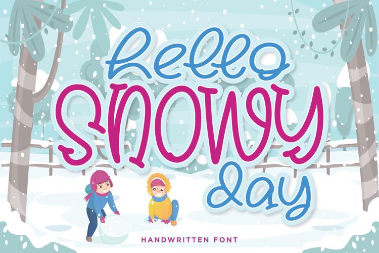 Hello Snowy Font
