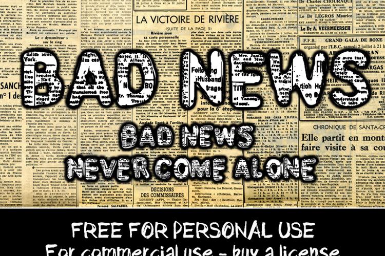 CF Bad News Font