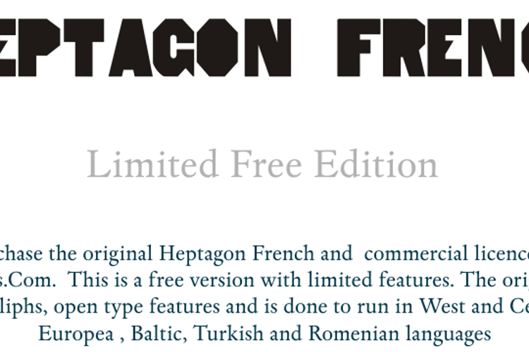HeptagonFrench Limited Free Edi Font