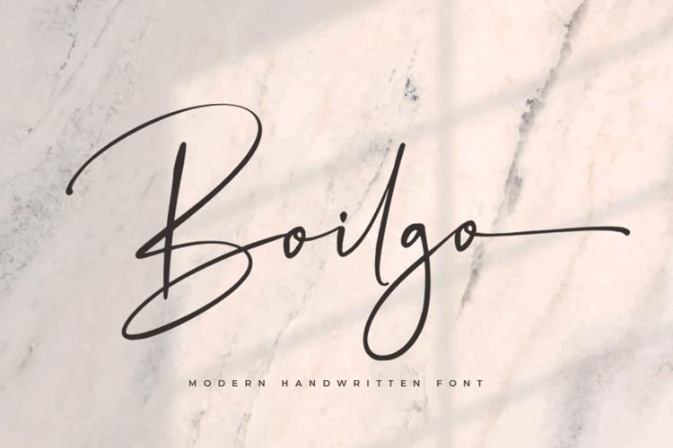 Boilgo Font