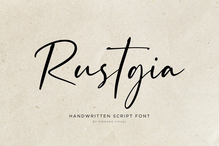 Rustgia - Font