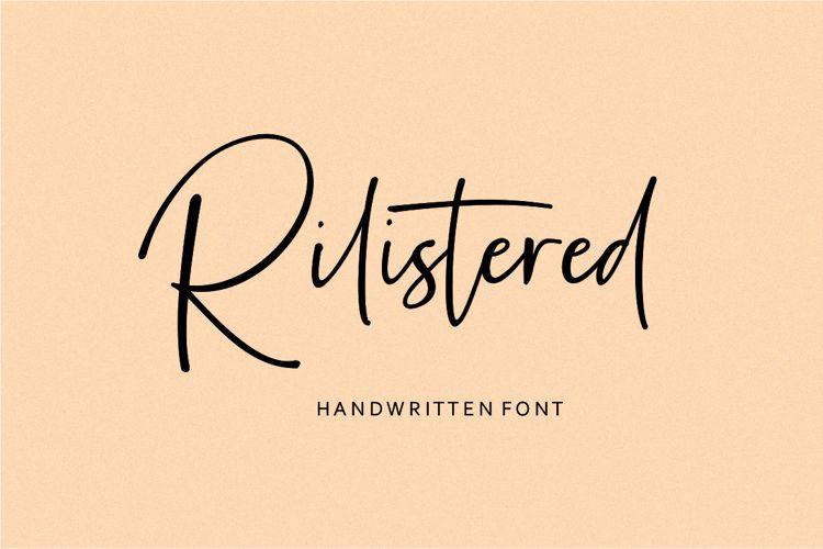Rilistered Font