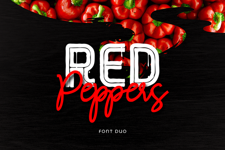 RED Peppers Script Font