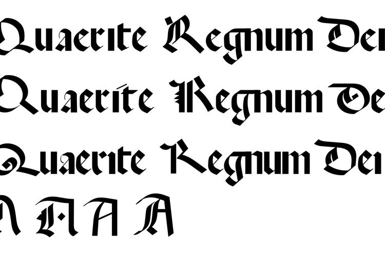 Quaerite Regnum Dei Font