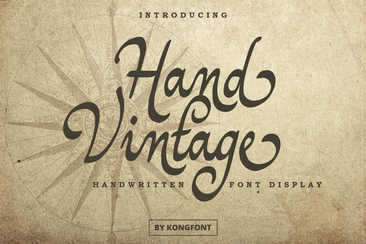 Hand Vintage Font