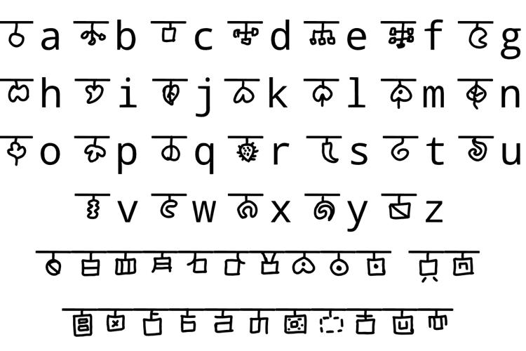 mudraksharam trei Font
