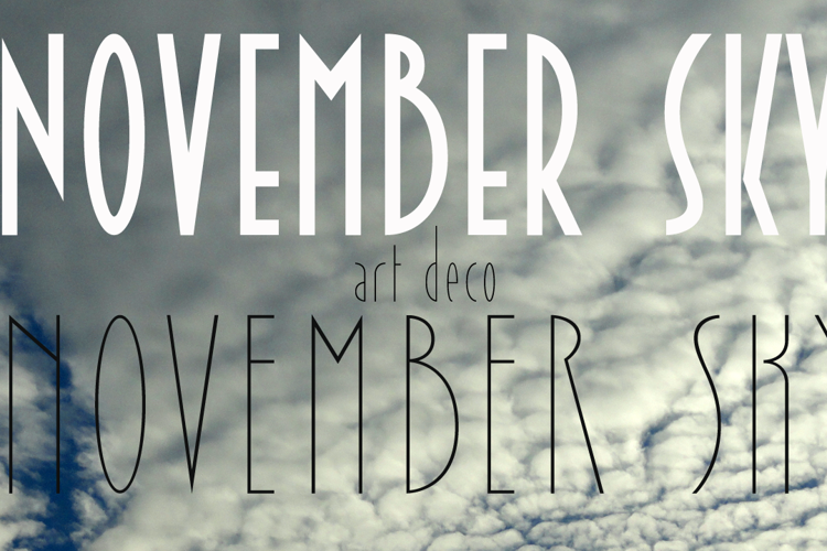 November Sky Demo Font