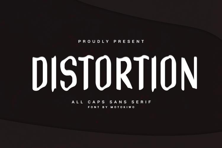 Distortion Font