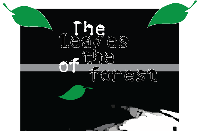 the leaves of the forest Font