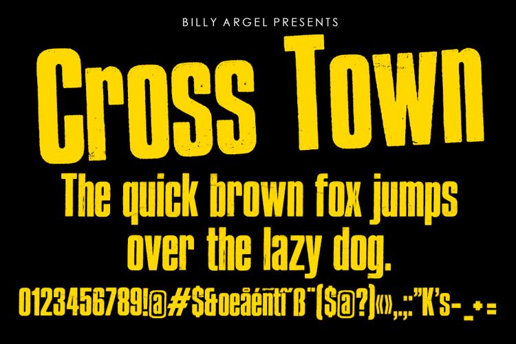Cross Town Font