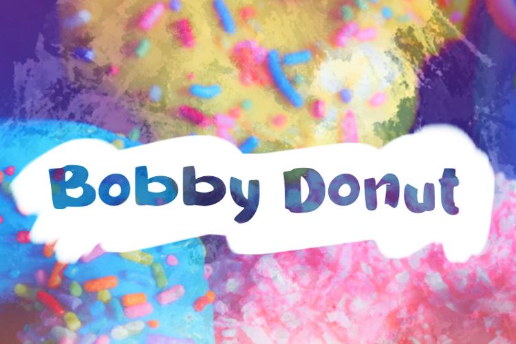 b Bobby Donut Font