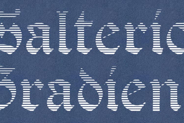 Salterio Gradient Font