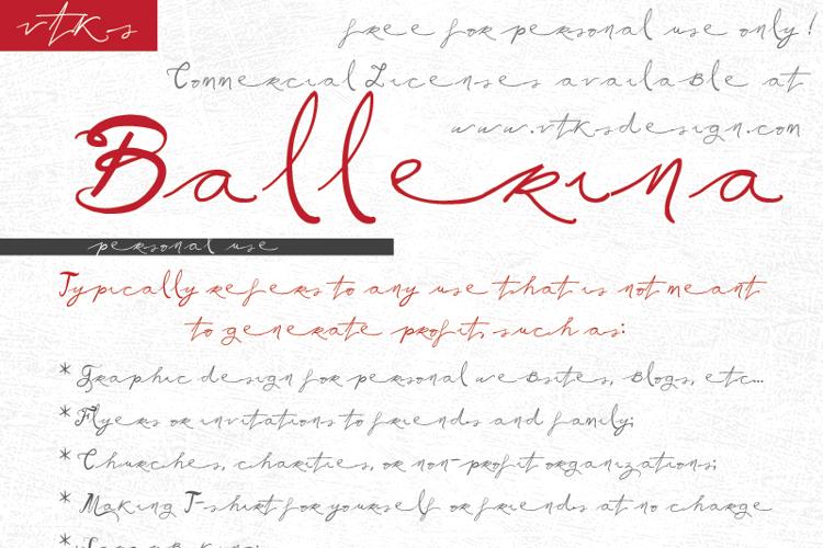 Vtks Ballerina Font