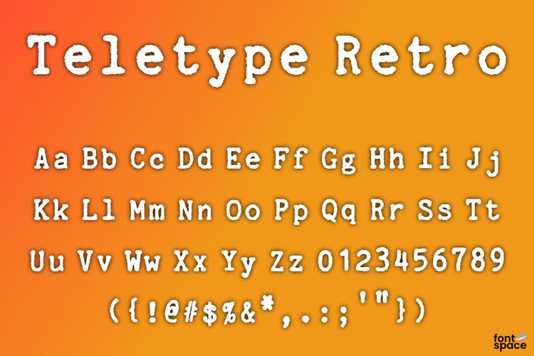 Teletype Retro Font