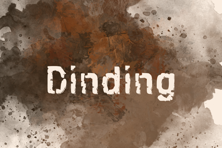 d Dinding Font