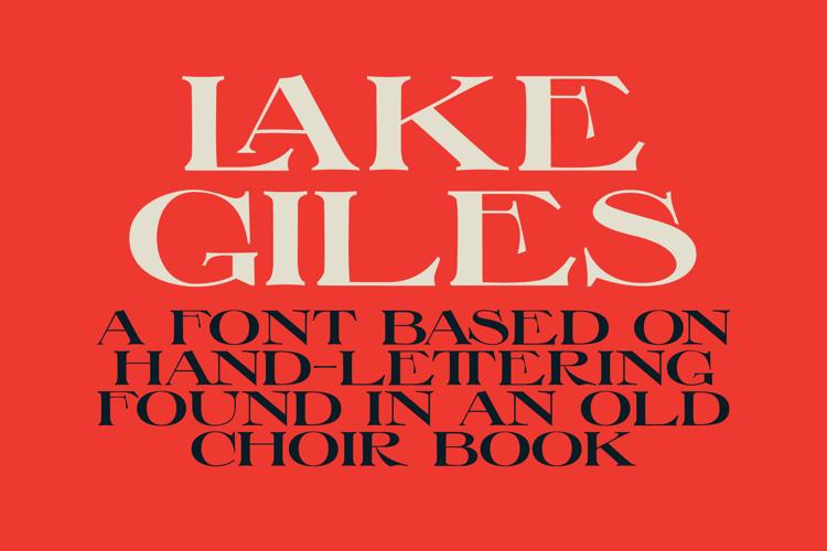 Lake Giles Font