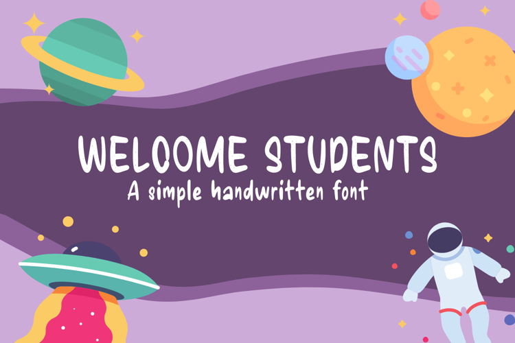 Welcome Students Font