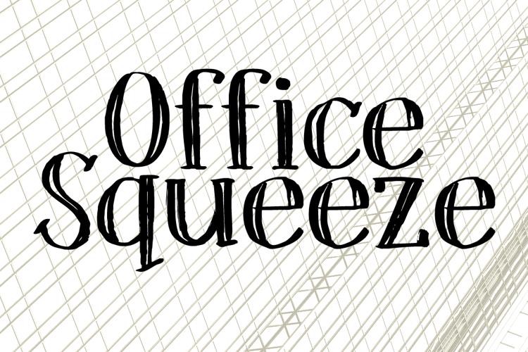 DK Office Squeeze Font