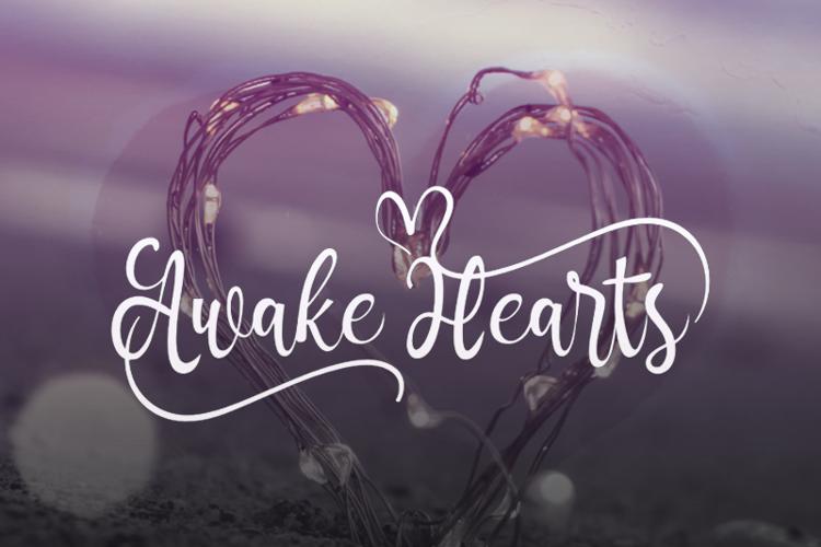 a Awake Hearts Font