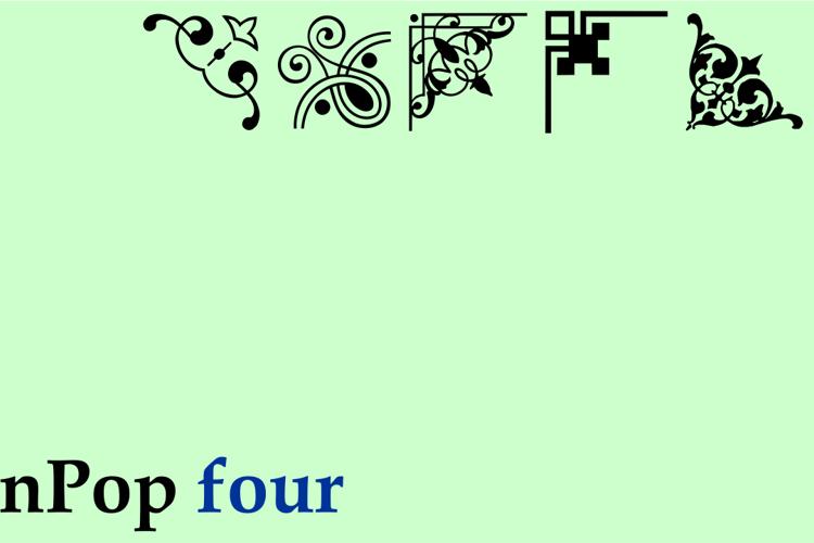 Corn Pop Four (2016) Font