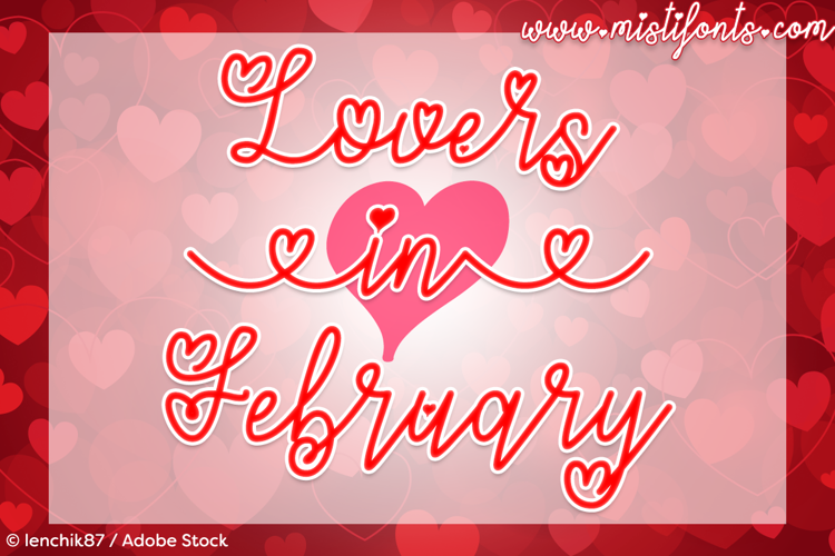 Lovers in February Font