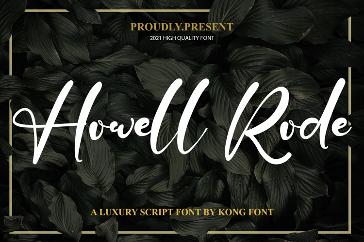 Howell Rode Font