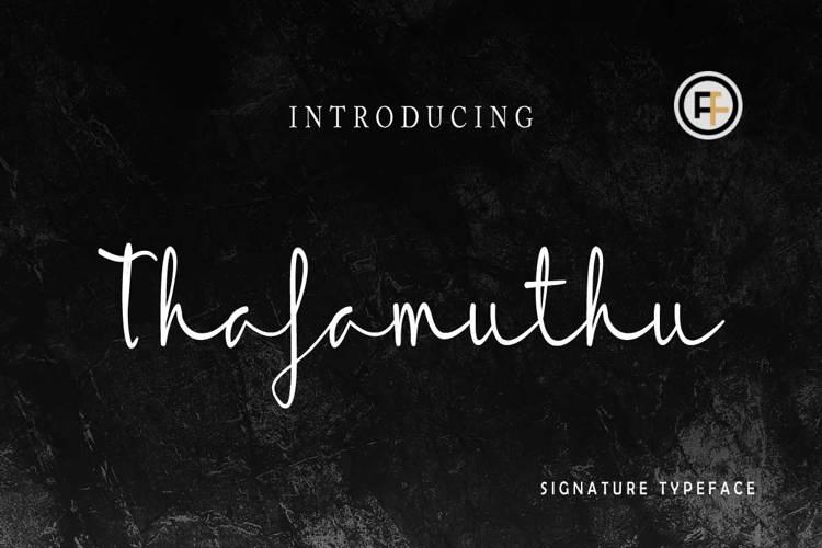 Thafamuthu Font