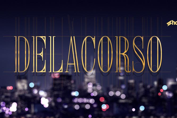 Delacorso Outlines Font