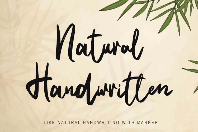 Natural Handwritten Font