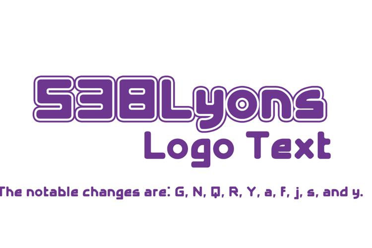 538Lyons Logo Text Font