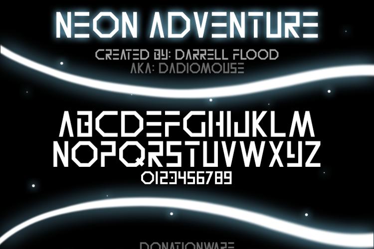 Neon Adventure Font