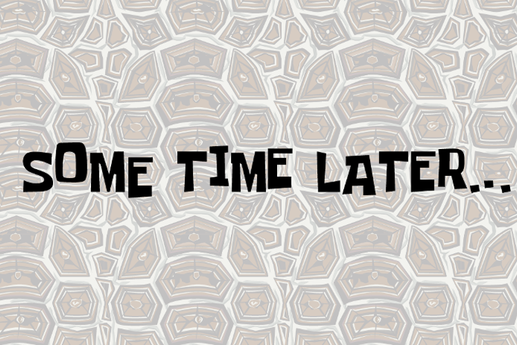 Some Time Later Font