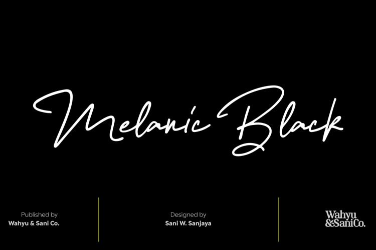Melanic Black Font