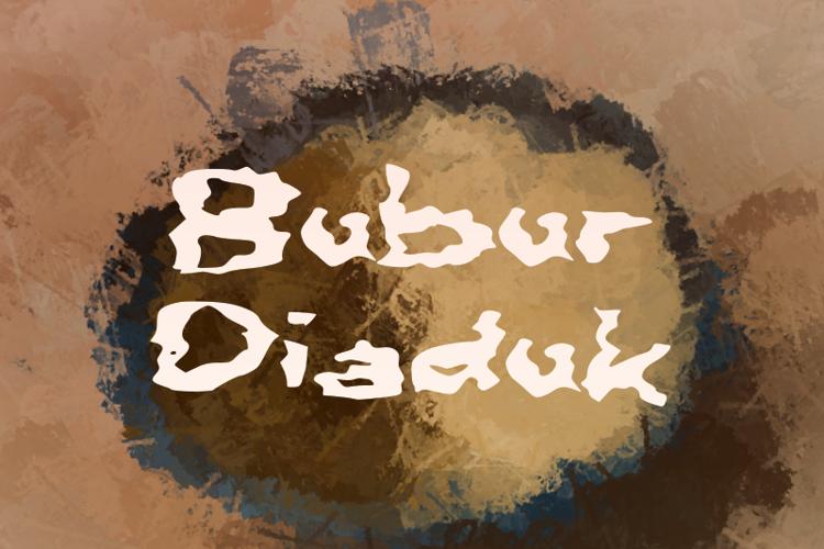 b Bubur Diaduk Font