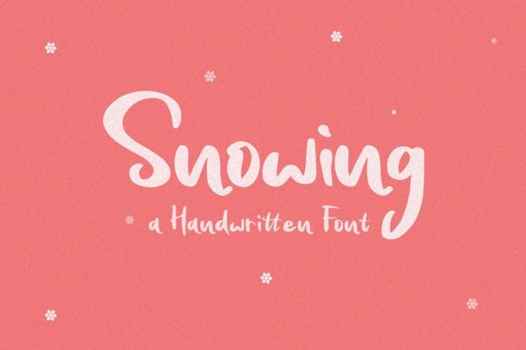 Snowing Font