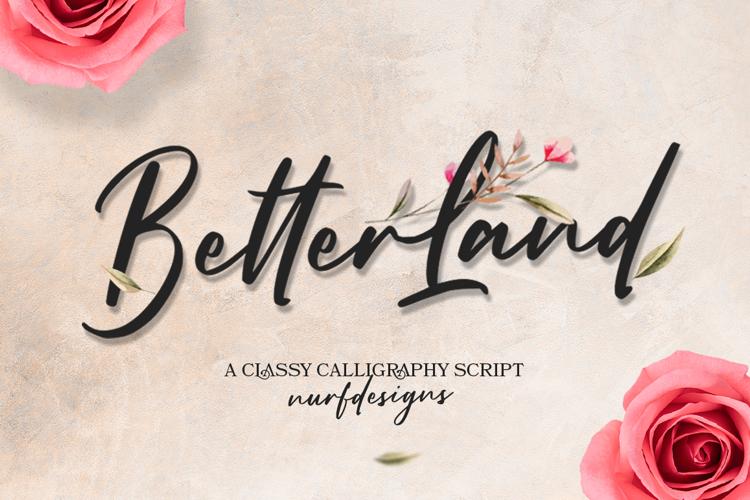 Better Land Font
