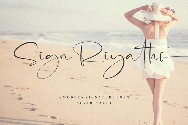 Sign Riyathi Font