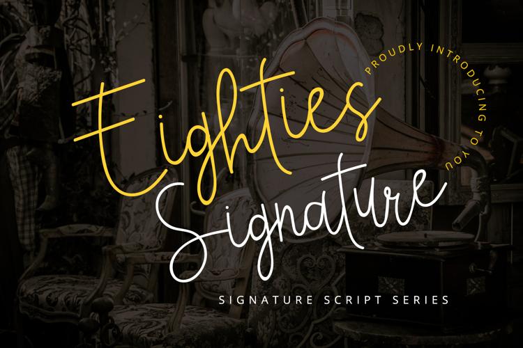 Eighties Signature Font